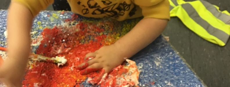 Mark Making With Bubble Wrap